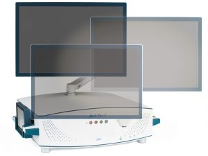 "Multi-Dop X with fully variable rotation and tilting 22"" LCD display"